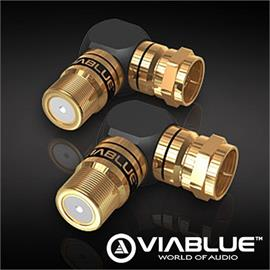 ViaBlue 40820 - XS - F-Adapter 90° (2 pcs / black/gold)