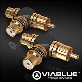 ViaBlue 40640 - XS - RCA Y adapter (2 pcs / black/gold)