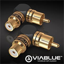 ViaBlue 40615 - XS - RCA adapter 90° S (2 pcs / black/gold)
