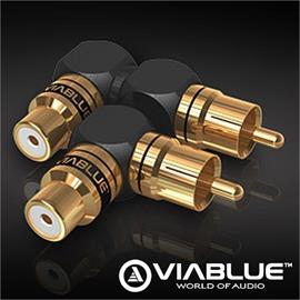 ViaBlue 40625 - XS - RCA adapter 90° S/XL (2 pcs / black/gold)
