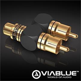 ViaBlue 40690 - XS - Subwoofer Y adapter (1 pcs / black/gold)