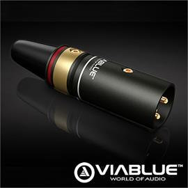 ViaBlue 30552 - T6s - XLR-Plug male (1 pcs / red / gold plated)