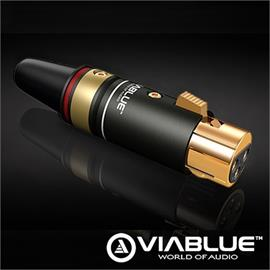 ViaBlue 30557 - T6s - XLR-Jack female (1 pcs / red / gold plated)
