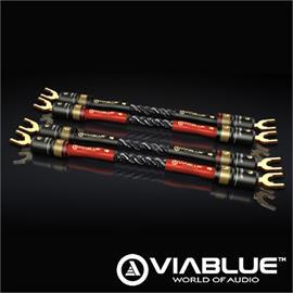 ViaBlue 24725 -  SC-4 Silver-Series - Jumper Bridges 1 x Spade to 1 x Spade  (2 x red / 2 x black / 10 cm)