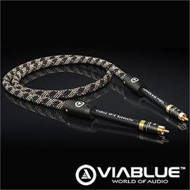 ViaBlue 22814 -  NF-B Subwoofer Cable 1 x RCA to 1 x RCA (1 pc / 2,5 m / Cobra protective sleeve.)
