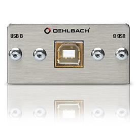 Oehlbach 8819 - MMT-C USB.2 B/B USB 2.0 B/B multimedia tray with breakout cable