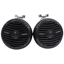 ROCKFORD FOSGATE RM1652W-MB - Wakeboard Tower speaker set incl. bracket set PM-CL2B (16,5 cm / 6,5 inch / 75 Watts RMS / black)
