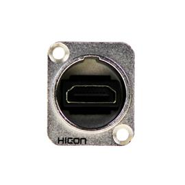HICON HI-HDHD-FFDN - HDMI patch panel socket (HDMI socket, nickel-plated / silver/black)