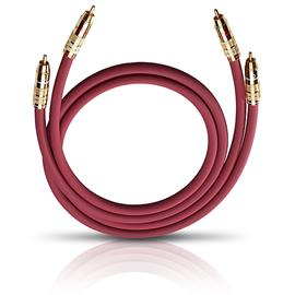 Oehlbach 2041 - NF 214 Master - LF audio cinch cable 1 x RCA to 1 x RCA  (2 pc / 2 x 1,0 m / red/gold)
