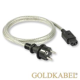 Goldkabel 114678 - POWERCORD (1 piece / 1,0 m / black/silver)