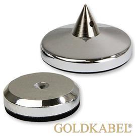 Goldkabel AS-40400 4er Set Spike & Disc - groß - Goldkabel - große Spikes mit Unterlegscheiben (je 4 Stück / silber)