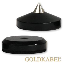 Goldkabel AS-40610 Spike & Disc Set of 4 Pieces - small - Goldkabel - small spikes with flat washers (each 4 pcs / black)