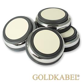 Goldkabel AS-40801 Damper Small Set of 4 Pieces - Goldkabel - Shock Absorber / Resonance Damper (4 pcs / silver)