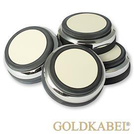 Goldkabel AS-40801 4er Set Dämpfer klein - Goldkabel - Shock Absorber / Resonanzdämpfer (4 Stück / silber)
