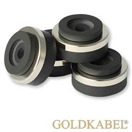 Goldkabel AS-41120 Damper Mini Set of 4 Pieces - Goldkabel - Shock Absorber / Resonance Damper (4 pcs / silver)