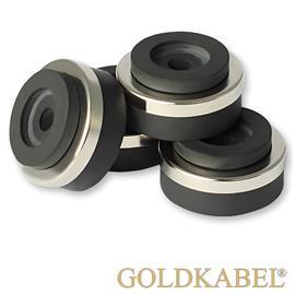 Goldkabel AS-41120 4er Set Dämpfer mini - Goldkabel - Shock Absorber / Resonanzdämpfer (4 Stück / silber)