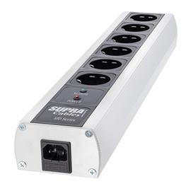 Supra Cables 3024000030 - SUPRA LoRad MD-06 EU/SP - multi-socket outlet (black/silver / 1 piece)