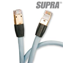Supra Cables 1001908639 - SUPRA CAT 8 - network/patch cable, 1 x RJ45 (ethernet) to 1 x RJ45 (ethernet)(2 m / ice blue)