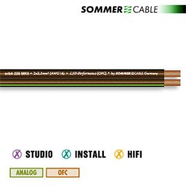 Sommer Cable 225 MKII - SC-ORBIT  - Speaker cable (1 m / 2x2,5 mm² / 10,2 x 4,8 mm / black transparent )