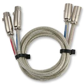 Burmester XLR 3 - qualitative cable set (2 x 1m / XLR plugs / silver)