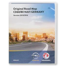Navteq Germany + MRE - Navigation CD for OPEL Antara Corsa D (CD60/CD80 Delphi / 2013/2014)