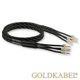 Goldkabel 823358 - Lautsprecherkabel ORCHESTRA GOLD 0250 - Single Wire (2x 2,5m / schwarz / 4 x 2,50 qmm)