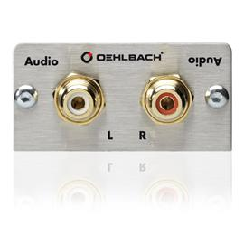 Oehlbach 8845 - MMT Audio - Audio multimedia tray with soldered connection - 2 x RCA (1 pc)