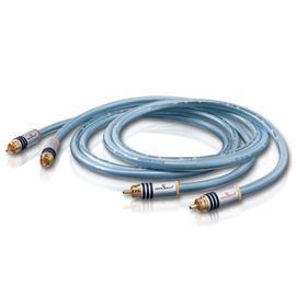 Oehlbach 13201 - XXL® Series 2 - LF audio RCA phono cable 1 x RCA to 1 x RCA (2 pc / 0,75 m / light blue)