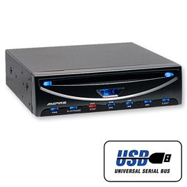 Ampire DVX104 - DVD player with USB (3/4 DIN)