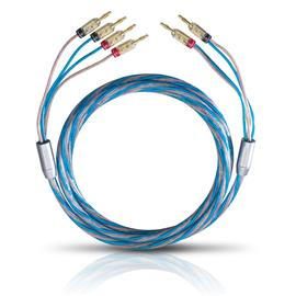 Oehlbach 10812 - Bi Tech 4B - Loudspeaker cable bi-wiring (2 x 2,0 meters / 2x2,5/2x4,0 qmm / with banana connector)