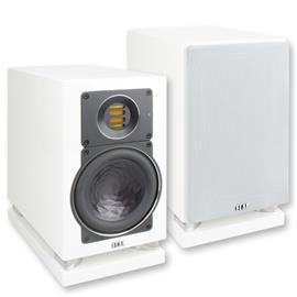 Elac AIR-X 403 - fully active 2-way bookshelf loudspeaker (225 Watts / high-gloss white / 1 piece) - exhibitor without damage