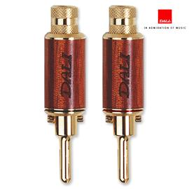 DALI banana plugs - 280214 (gold plated / wood decor / 4 pieces)