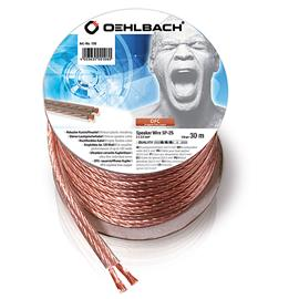 Oehlbach 108 - Speaker Wire SP-25 3000 - Loudspeaker cable flexible Mini-coil (30m / transparent / copper / 2 x 2,5qmm)