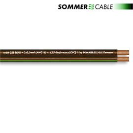 Sommer Cable 225 MKII - SC-ORBIT  - Speaker cable (50 m / 2x2,5 mm² / 10,2 x 4,8 mm / black transparent )