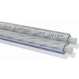 Oehlbach 1019 - Silverline 25 - Lautsprecherkabel flexibel (100m Rolle/ transparent / versilbert / 2x2,5 qmm)