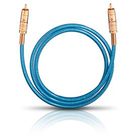 Oehlbach 107010 - NF 113 DI - digital audio RCA cable (1 x RCA to 1 x RCA / 10.0 m / blue/gold)