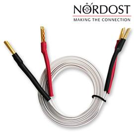 Nordost 2FL50 - 2 FLAT - Speaker Cables Ultra-thin flexible formulated with Bananas (2 x 5 m / white / OFC)