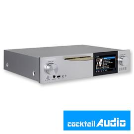 Cocktail Audio X40 without hard drive (silver / All-in-One HD music server / DAC / preamplifier with XLR / Phono Pre)