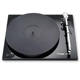 THORENS TD 203 - record player / turntable (incl. Thorens tonearm TP 19-1 / MM cartridge TAS 257 / high-gloss black)