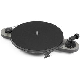 "Pro-Ject Elemental - manual record player with Ortofon OM 5E cartridge (silver/black / incl. straight 8,6"" tonearm)"