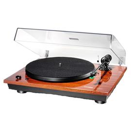 THORENS TD 295 - semi-automatic record player / turntable (incl. Thorens tonearm TP 41 / MM cartridge AT-95E / piano lacquer mahogany)