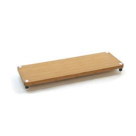Atacama EVOQUE ECO 44/16 - DESIGN EDITION - hi-fi rack base module (made from light bamboo solid wood = light bamboo / legs in matt black finish / incl. spikes)