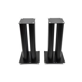 Atacama EQUINOX HiFi RS Celebration - hifi rack - 145mm shelf module (made from black glass and black steel frame modules / incl. spikes)
