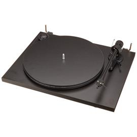 Pro-Ject Essential II - record player incl. tonearm + Ortofon cartridge OM 5E (black / incl. dust cover)