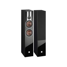 DALI Opticon 6 - 3-Way bass reflex floorstanding loudspeaker (25-200 W / black ash / 1 piece)