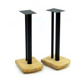 Atacama Moseco 6 - loudspeaker stands (615 mm / black & base plate made of light bamboo solid wood = natural bamboo / 1 pair)