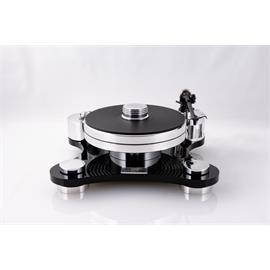 Transrotor ZET 1 - high end record player + Transrotor - Uccello - MM cartridge (incl. Transrotor - TR800-S - tonearm / incl. counterweight / in black finish)