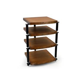 Atacama Eris2 Eco 5.0 - hi-fi rack - 4 levels (total of 4 shelves made from dark bamboo solid wood = dark bamboo / incl. silver spikes)