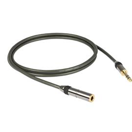Goldkabel Profi - 6.3mm jack - cable extension (2,5m / black)