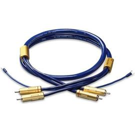 Ortofon 6NX-TSW 1010R - tonearm cable with ground lead (RCA/RCA / blue/gold)